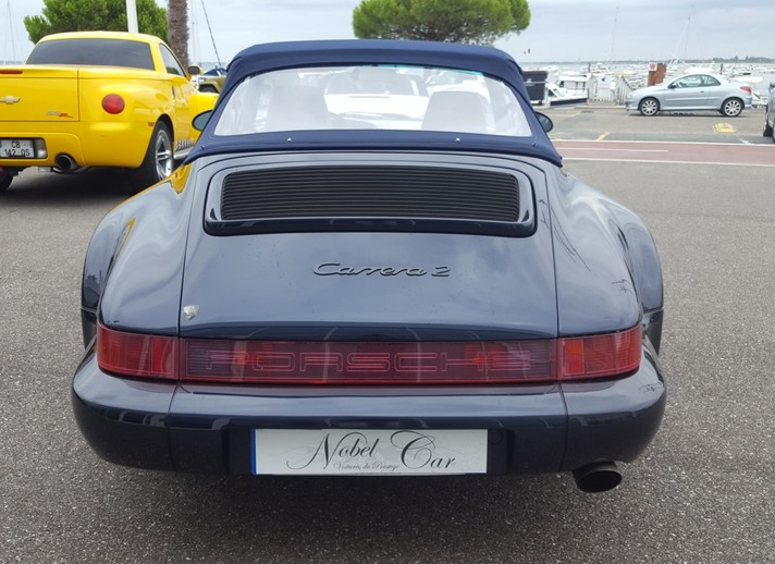 Porsche 911 Type 964 Cabriolet Turbo Look Usine Carrera 2 du 03/1993 d'occasion Nobel Car Arcachon proche Bordeaux 33