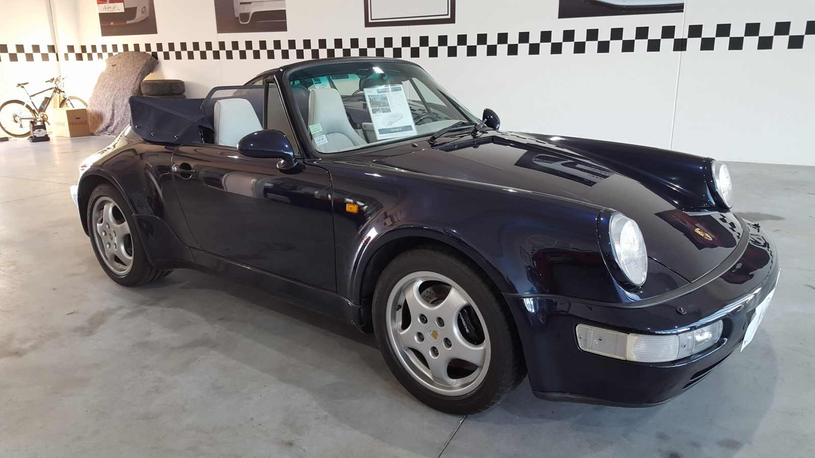 Porsche 911 Type 964 Cabriolet Turbo Look Usine Carrera 2